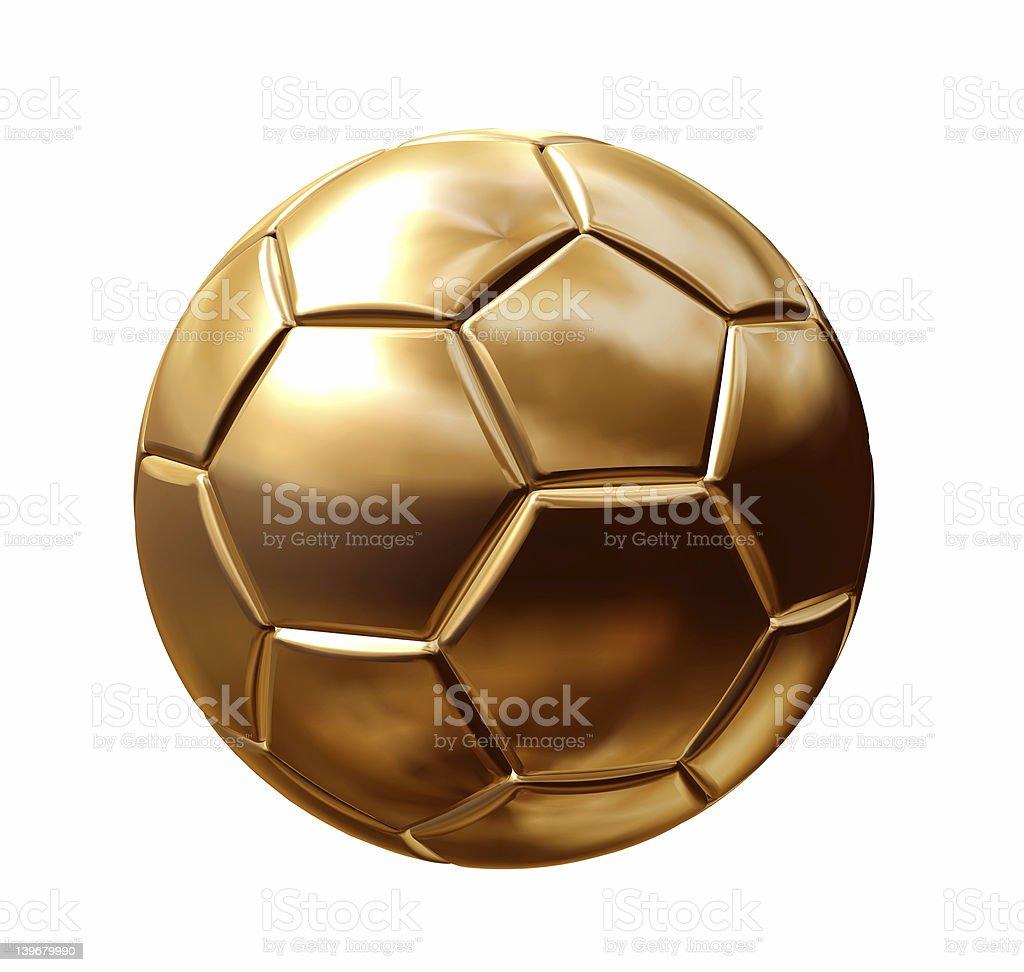 gold soccerball stock photo