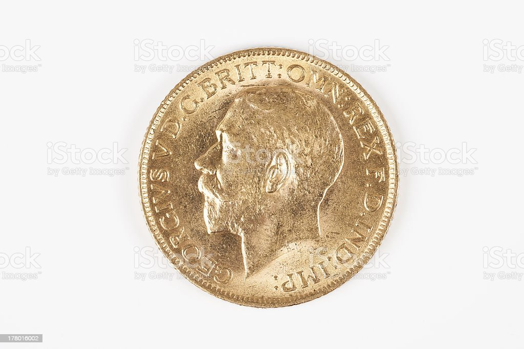 gold Sovereign George V royalty-free stock photo