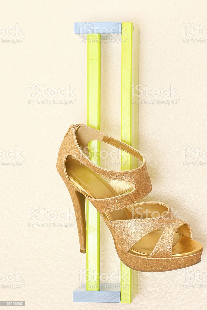 Gold Sparkle High Heel royalty-free stock photo