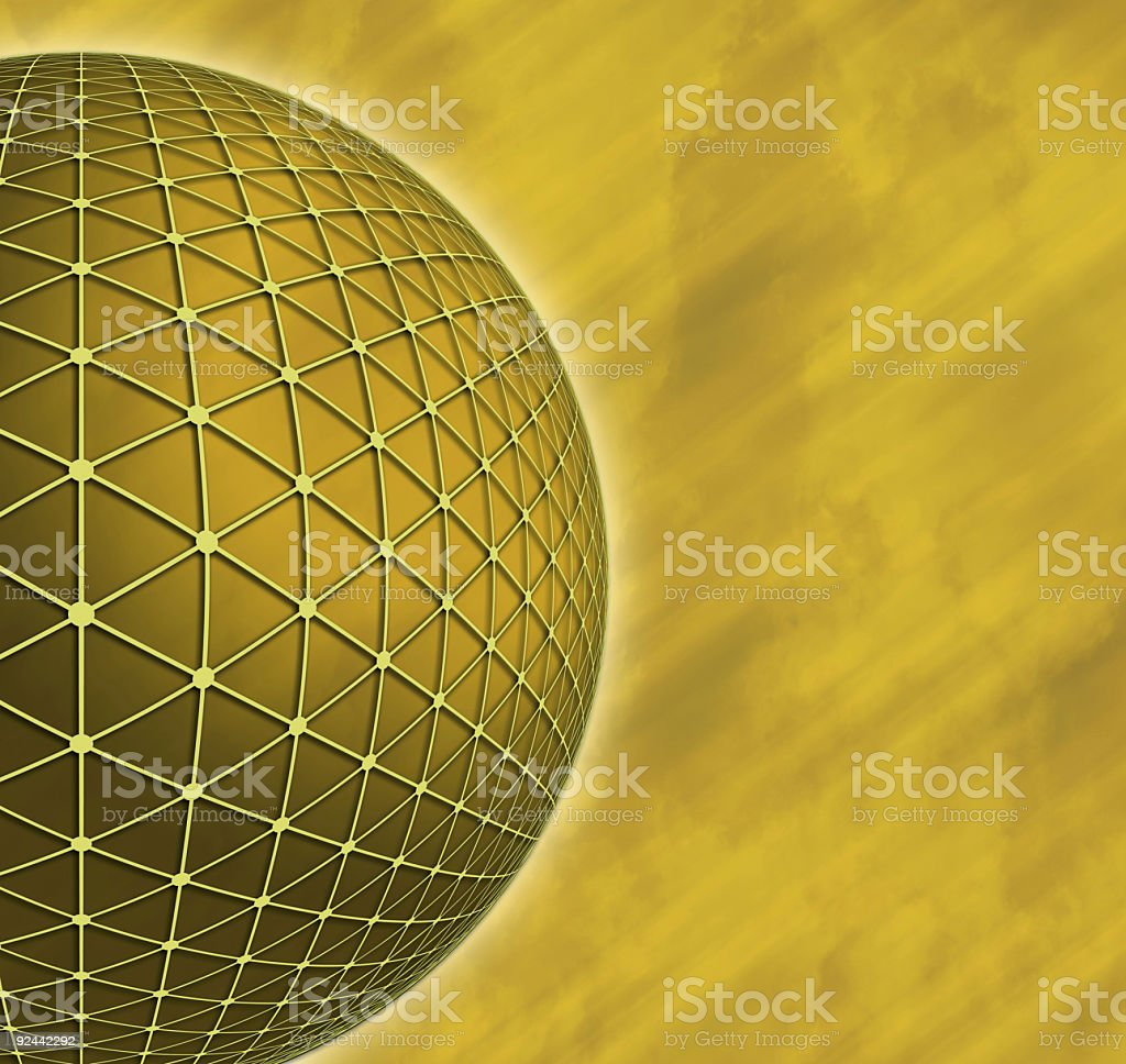 Gold Sphere royalty-free stock photo