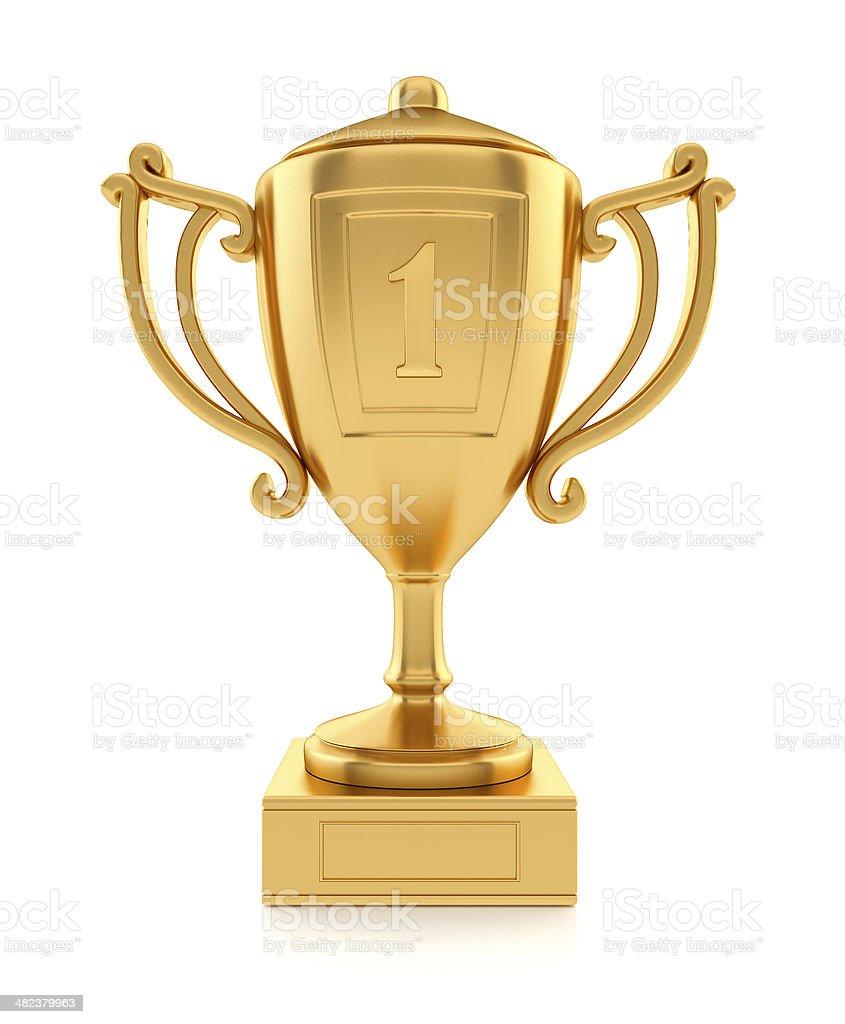 Złoty Puchar Mistrz zawodów sportowych zbiór zdjęć royalty-free