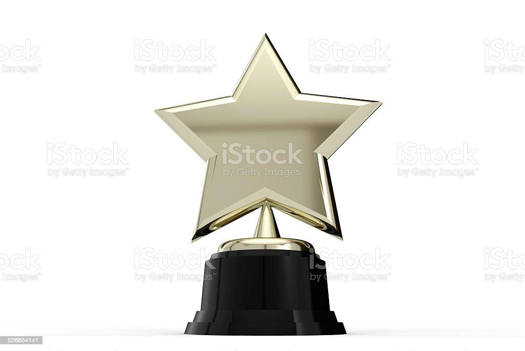 Gold star award stock photo
