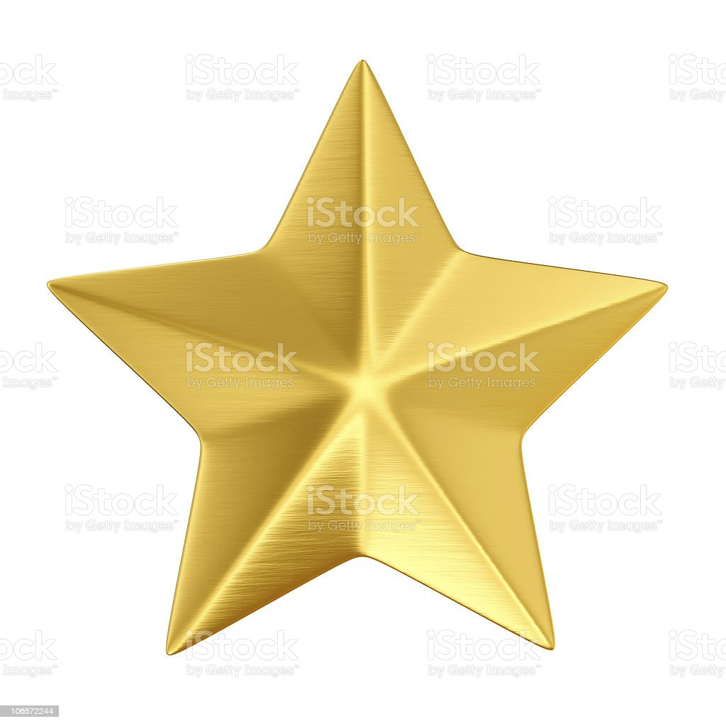 gold star isolated royalty-free stock photo