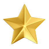 gold star isolated