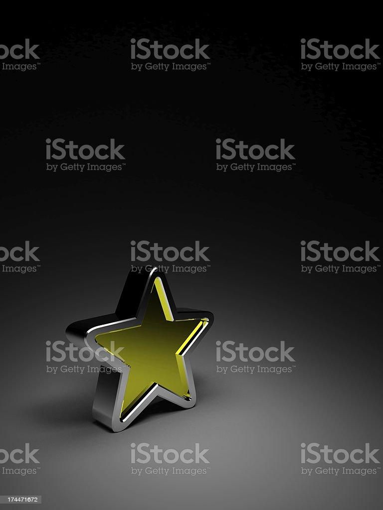 gold star on dark background royalty-free stock photo