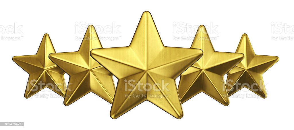 Gold star royalty-free stock photo
