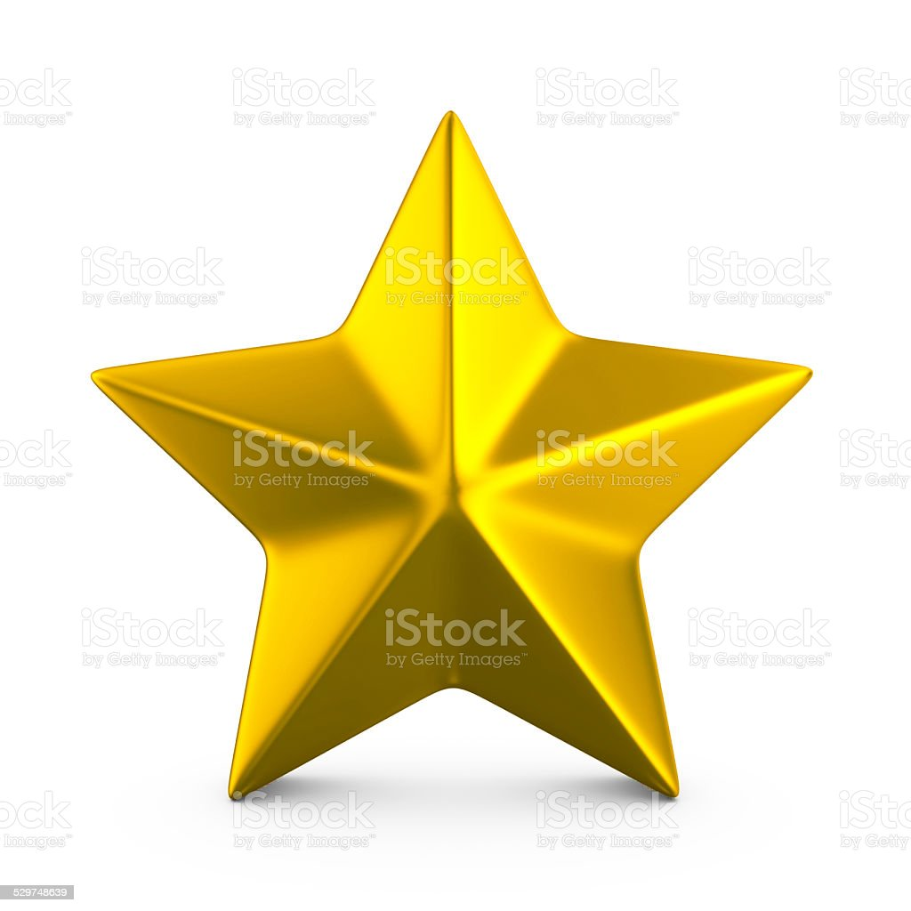 Gold star. royalty-free stock vector art