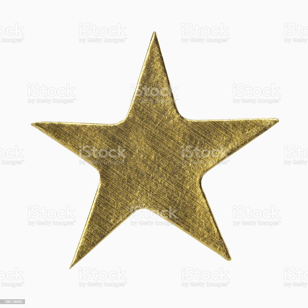 Gold Star Sticker stock photo