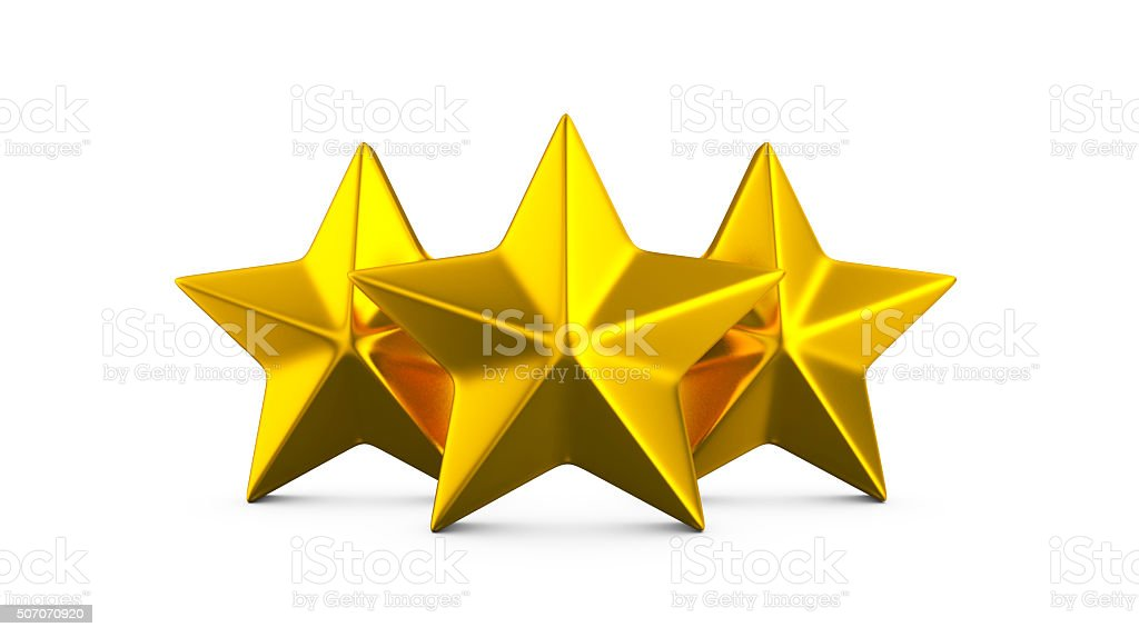 Gold stars on a white background. royalty-free stock photo