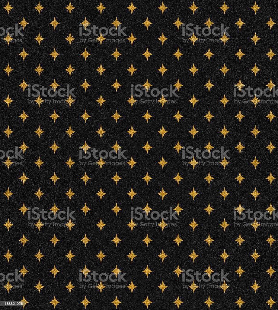 gold stars on black glitter royalty-free stock photo