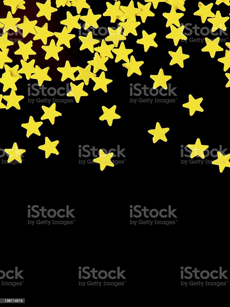 Gold stars on top royalty-free stock photo