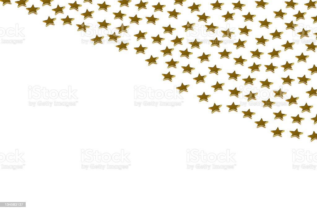 Gold stars on white background royalty-free stock photo