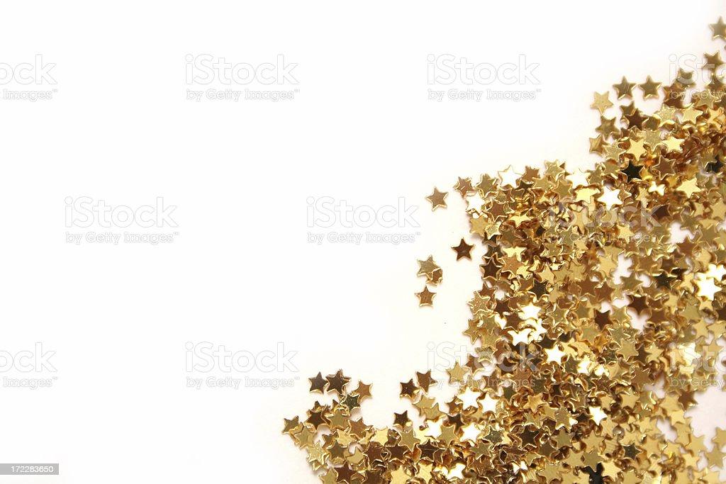 Gold Stars stock photo