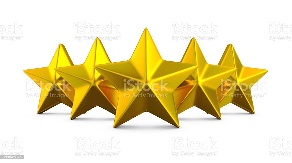 Gold stars. royalty-free stock photo