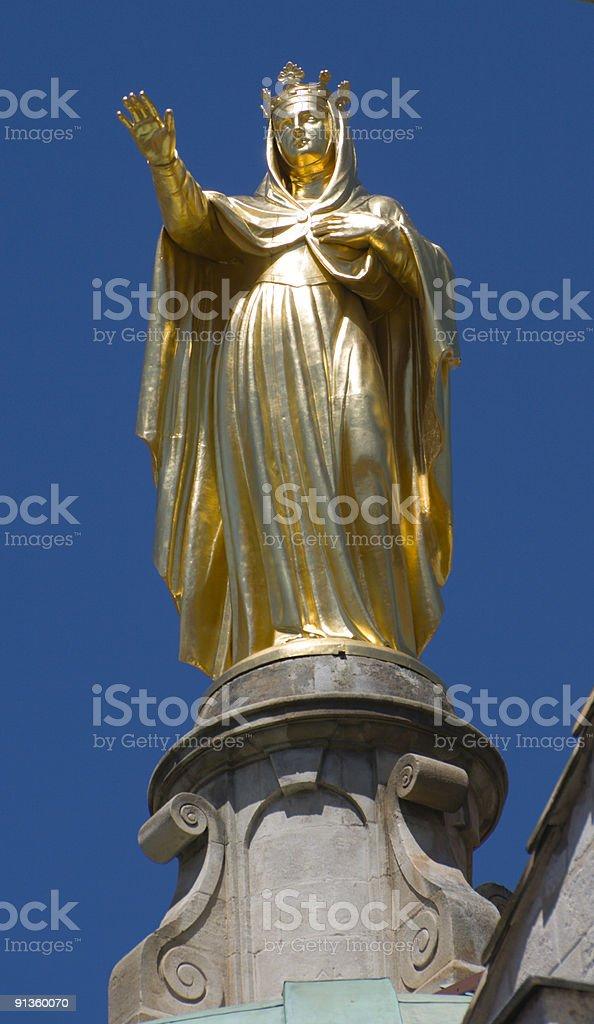 Gold Statue stock photo
