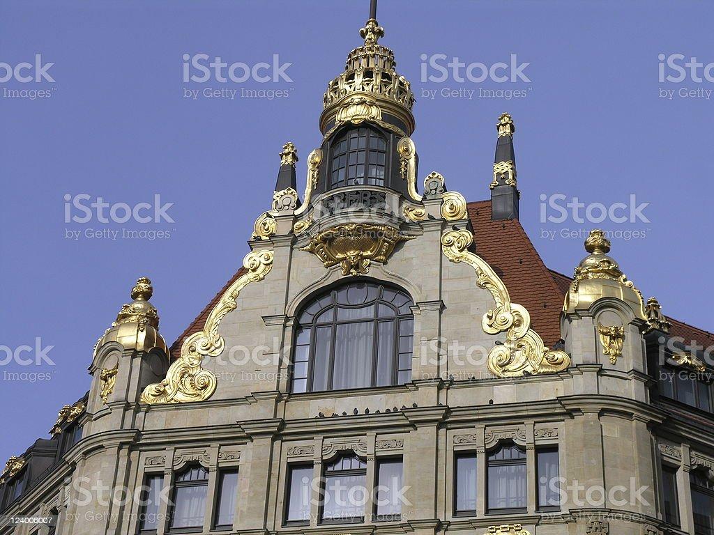 尖り屋根ライプチヒの金 ロイヤリティフリーストックフォト