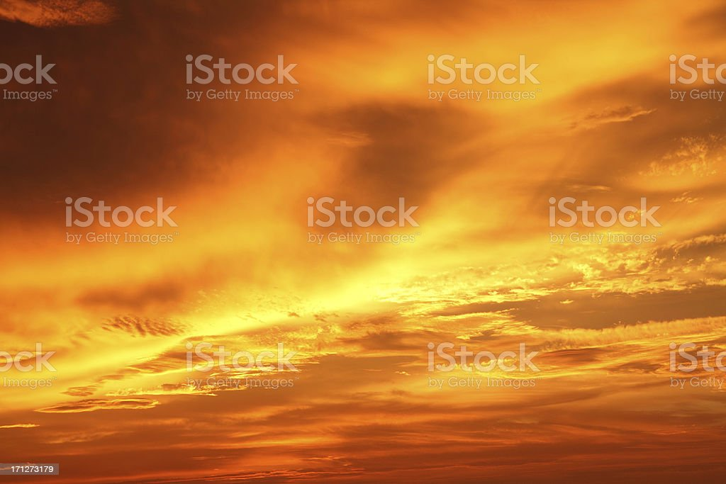 Gold Storm Clouds-XXXL royalty-free stock photo