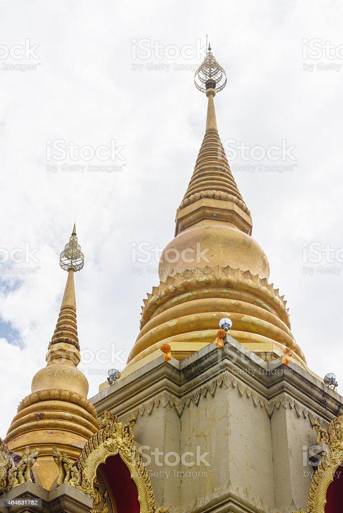 gold stupa stock photo