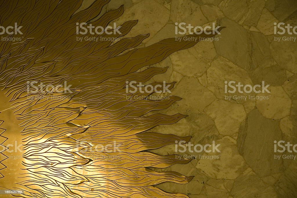 Gold sun beams royalty-free stock photo