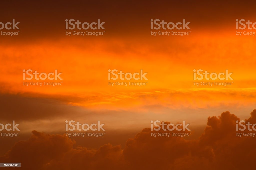 Gold Sunset Clouds stock photo