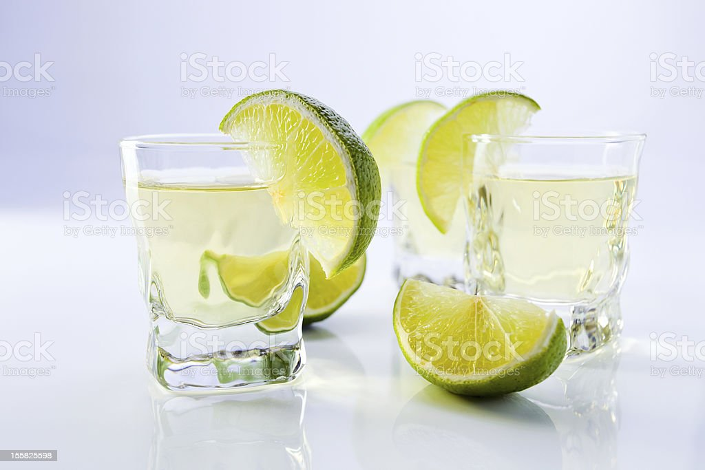 gold tequila with lime. royalty-free stock photo