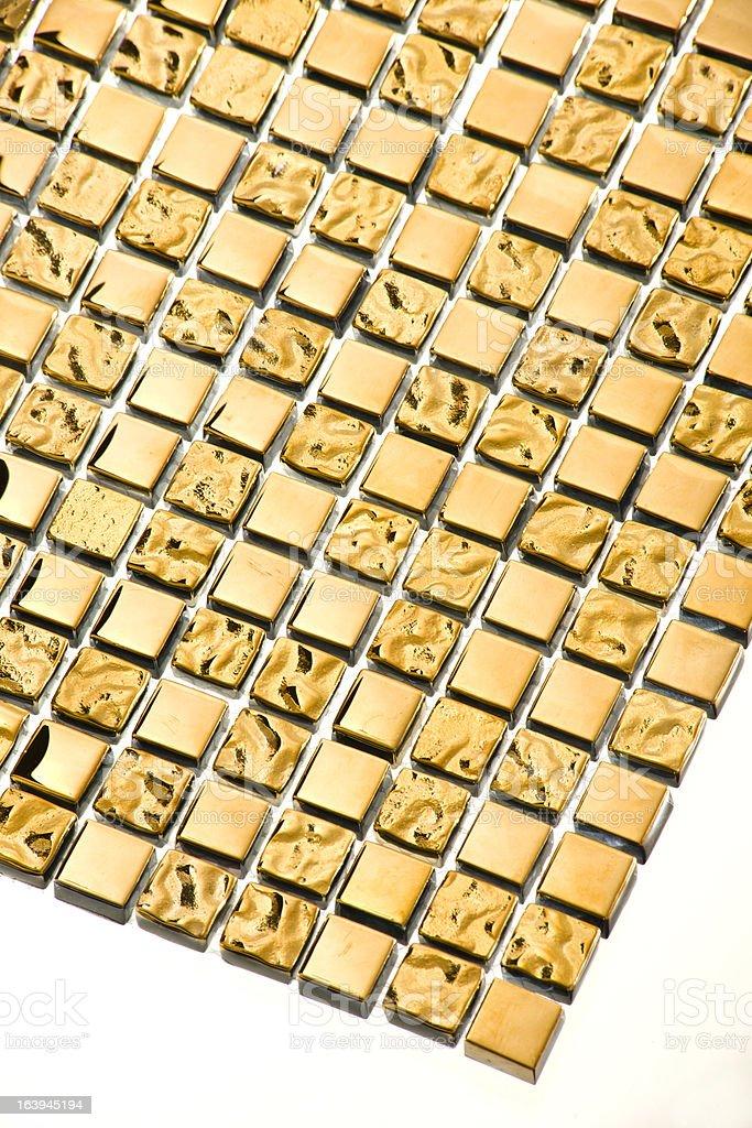 Gold tile mosaic background royalty-free stock photo