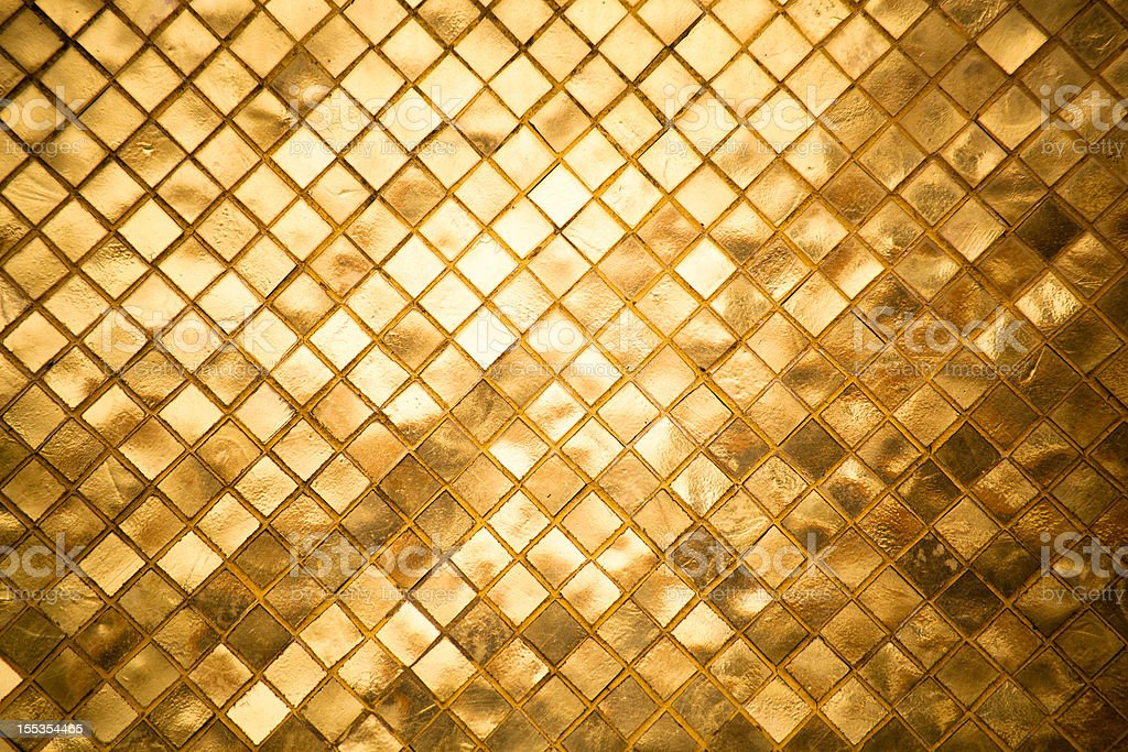 Gold Tiles Background Nobody Texture Pattern stock photo