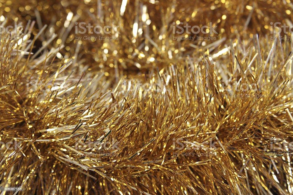 Gold Tinsel stock photo