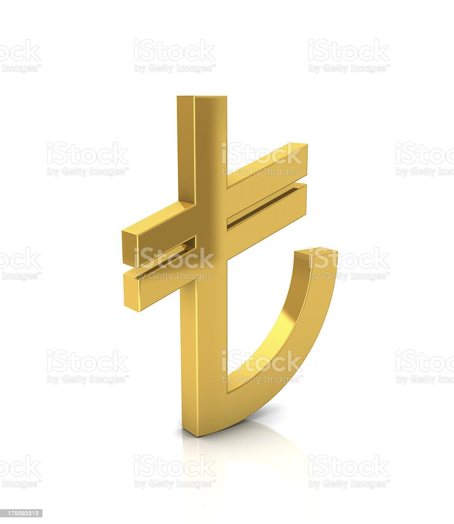 Gold TL Sign stock photo