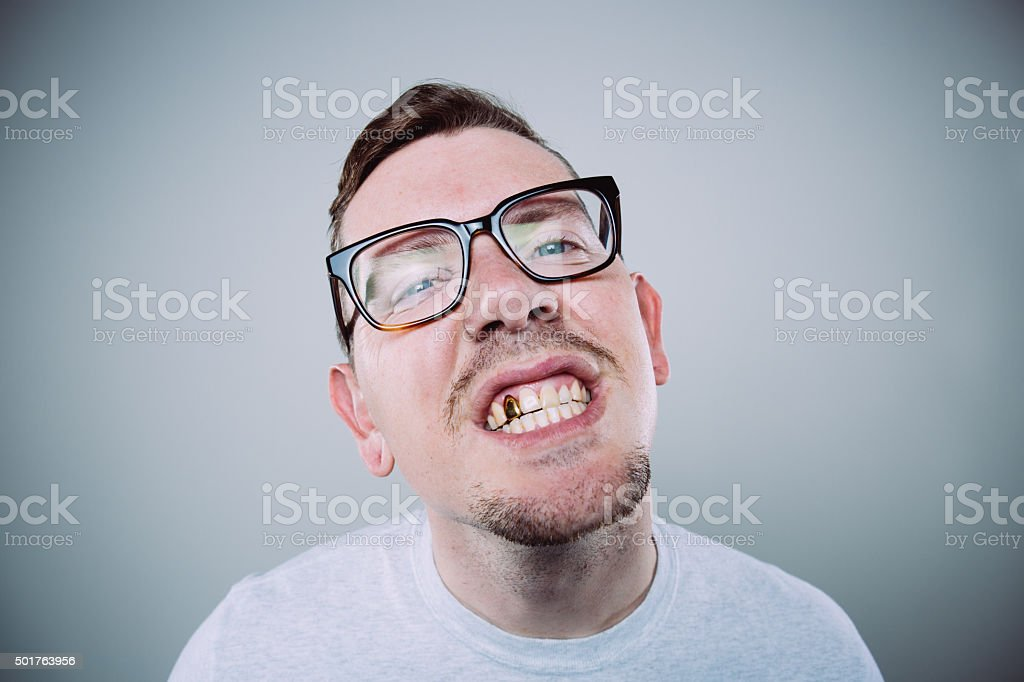 Gold Tooth Nerd stock photo