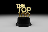 Gold top 100 trophy
