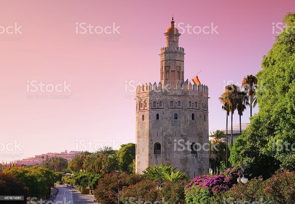 Gold Tower, Seville. stock photo