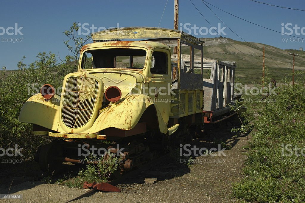 Gold transport royalty-free stock photo