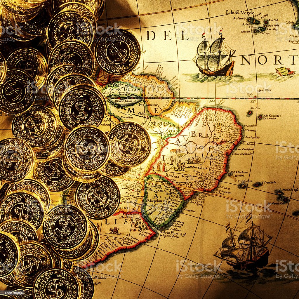 Gold Treasure stock photo