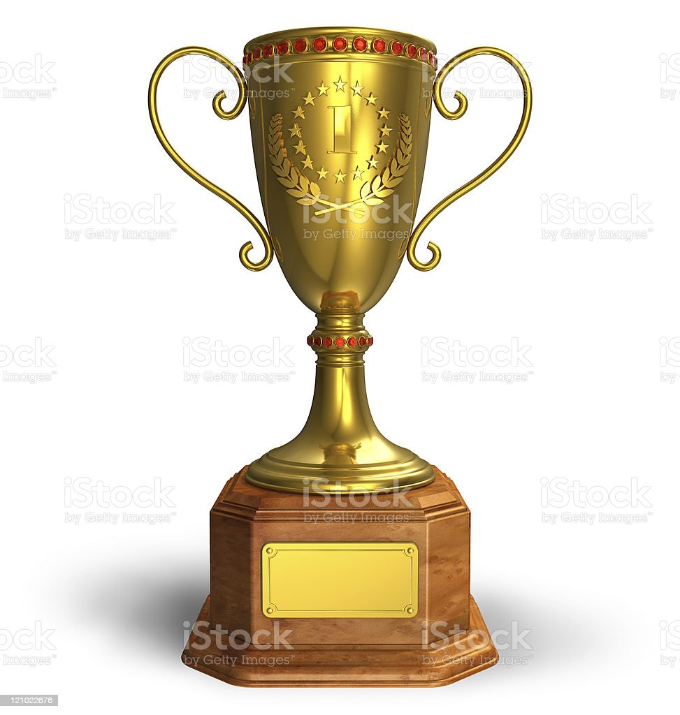 Gold trophy cup royalty-free stock photo