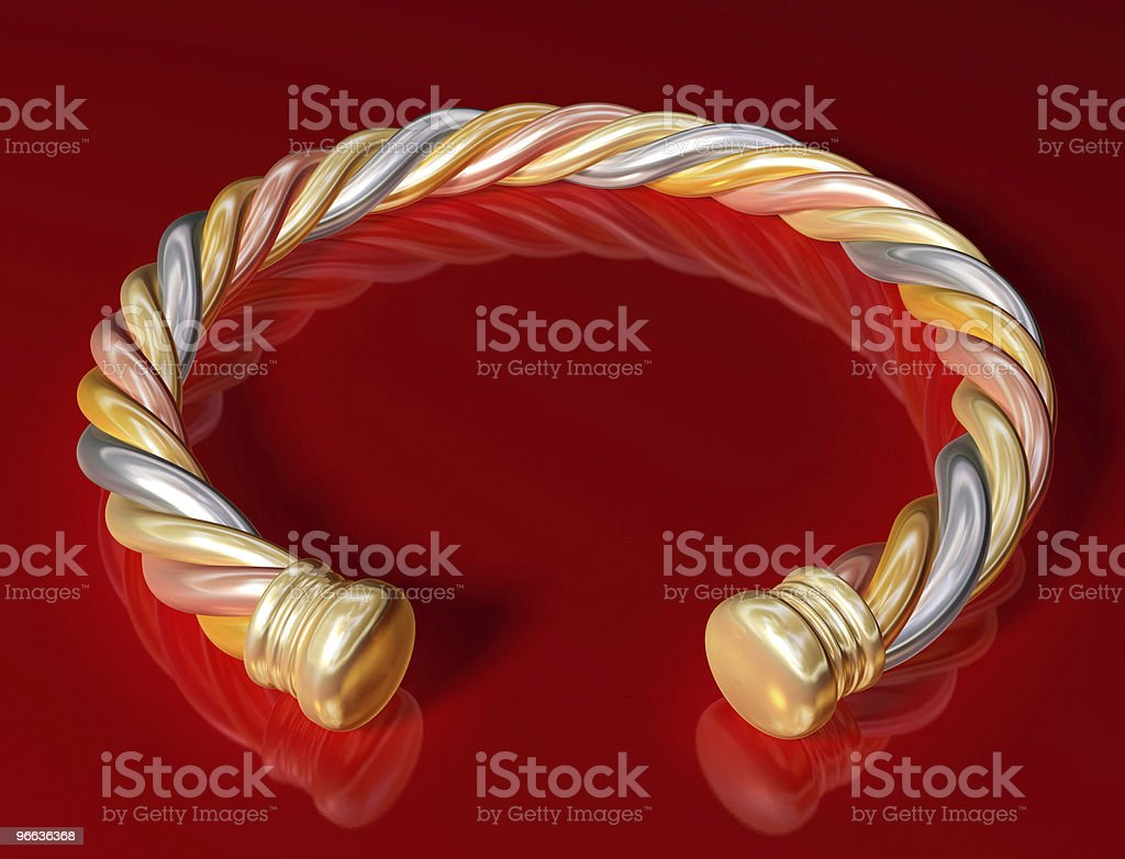 Gold Twist Bangle royalty-free stock photo