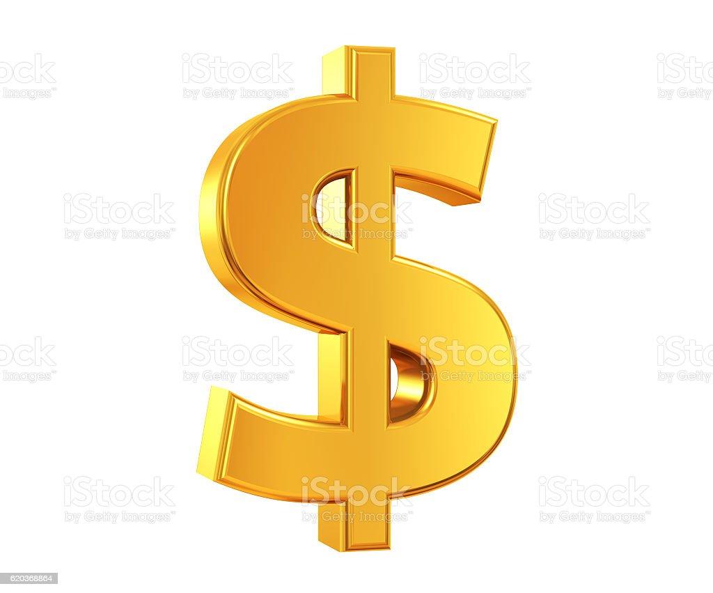 Gold US Dollar Symbol stock photo