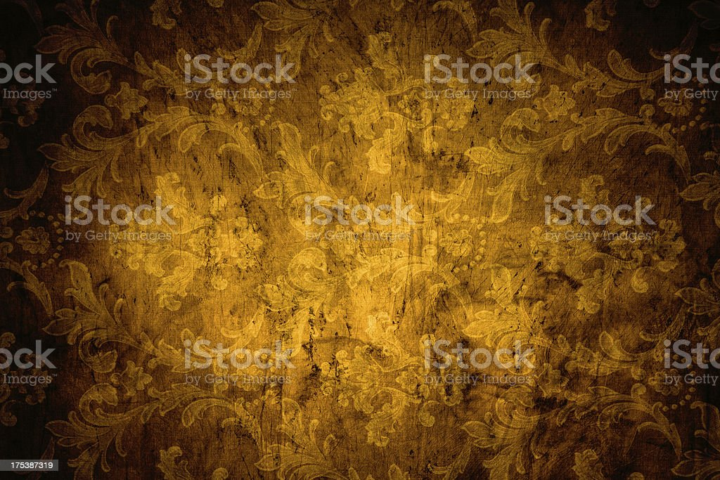 Gold Victorian Background stock photo