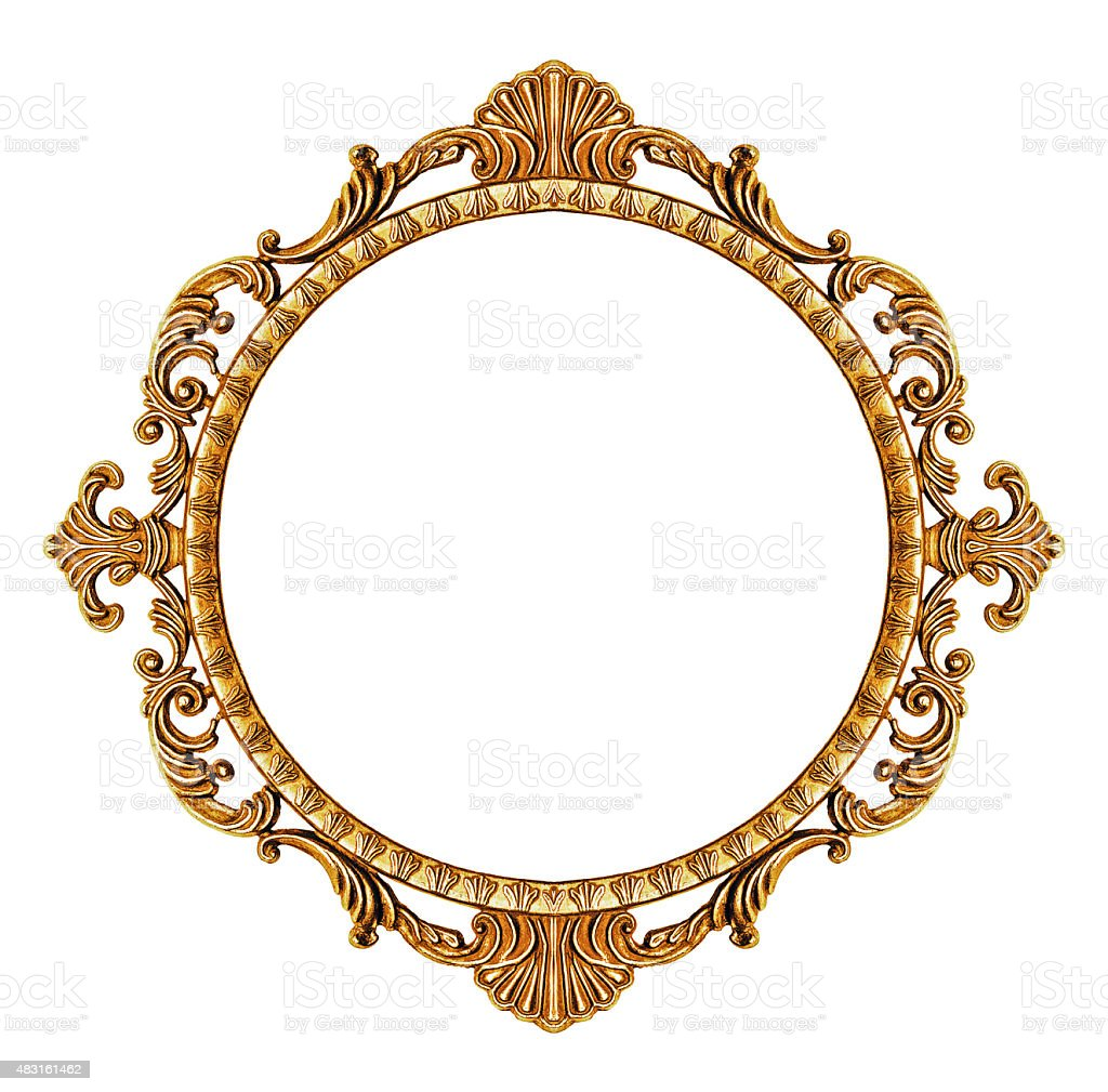 Gold vintage frame stock photo