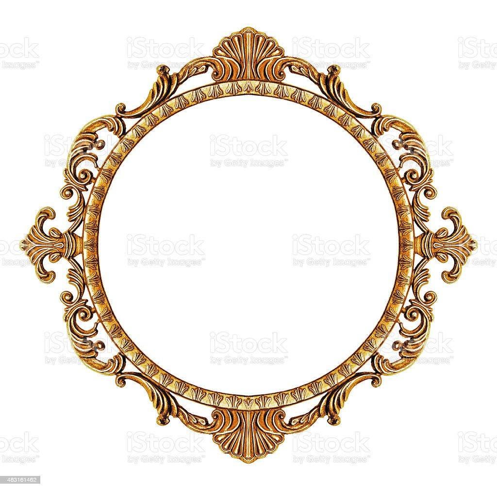 Gold vintage frame stock photo