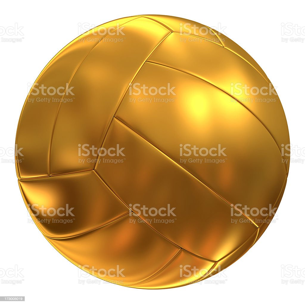 Gold Volley ball royalty-free stock photo