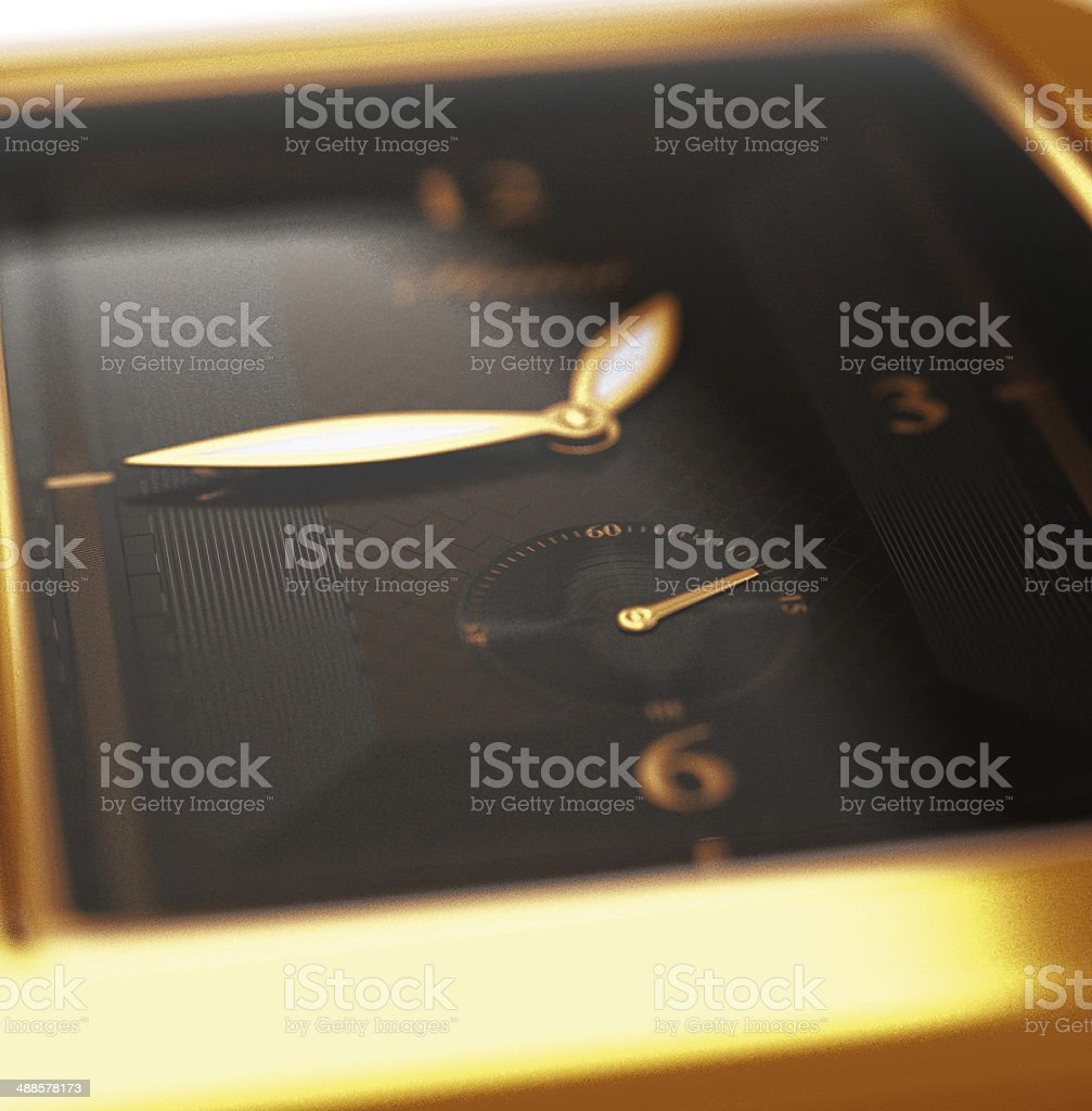 gold watch royalty-free stock photo