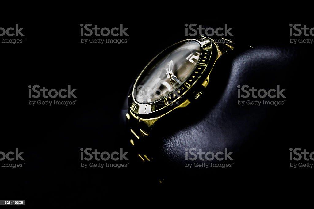 gold watch stock photo