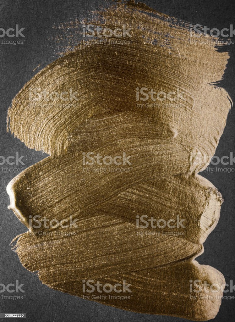 Gold watercolor texture paint stain vector abstract illustration stock photo