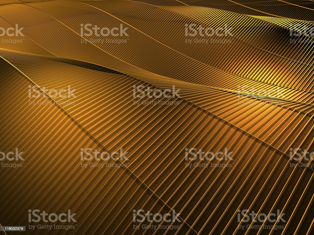 Gold Waves Abstract Background royalty-free stock photo