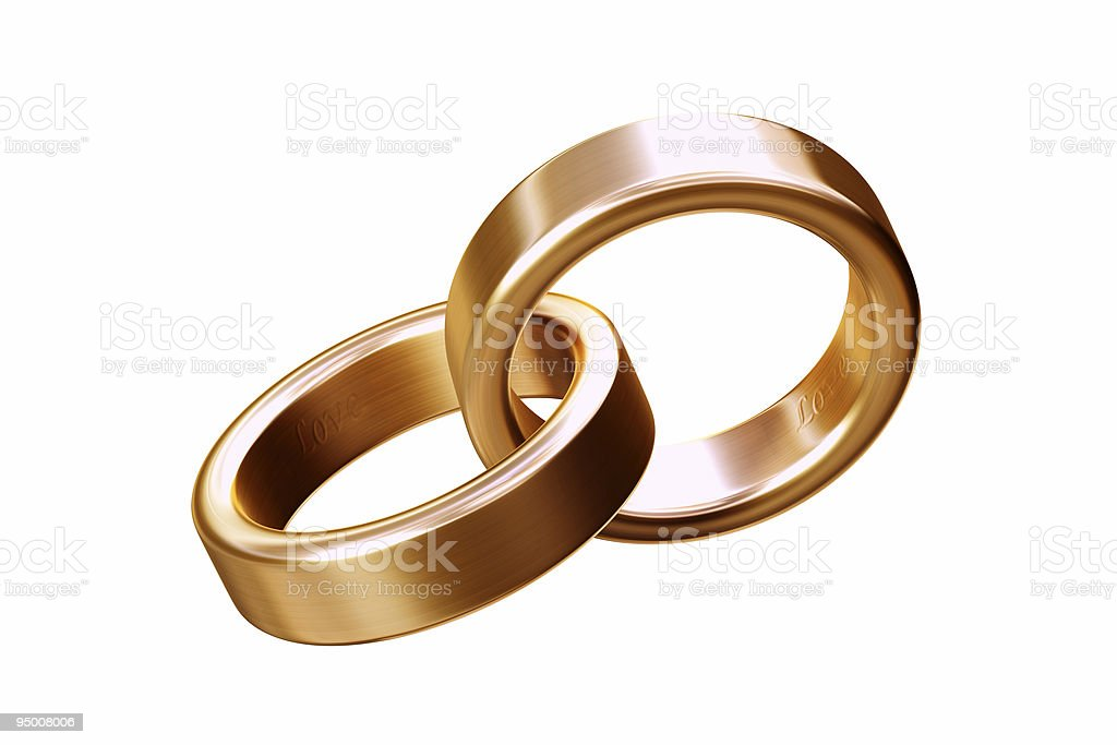 Gold Wedding Band (XL) royalty-free stock photo