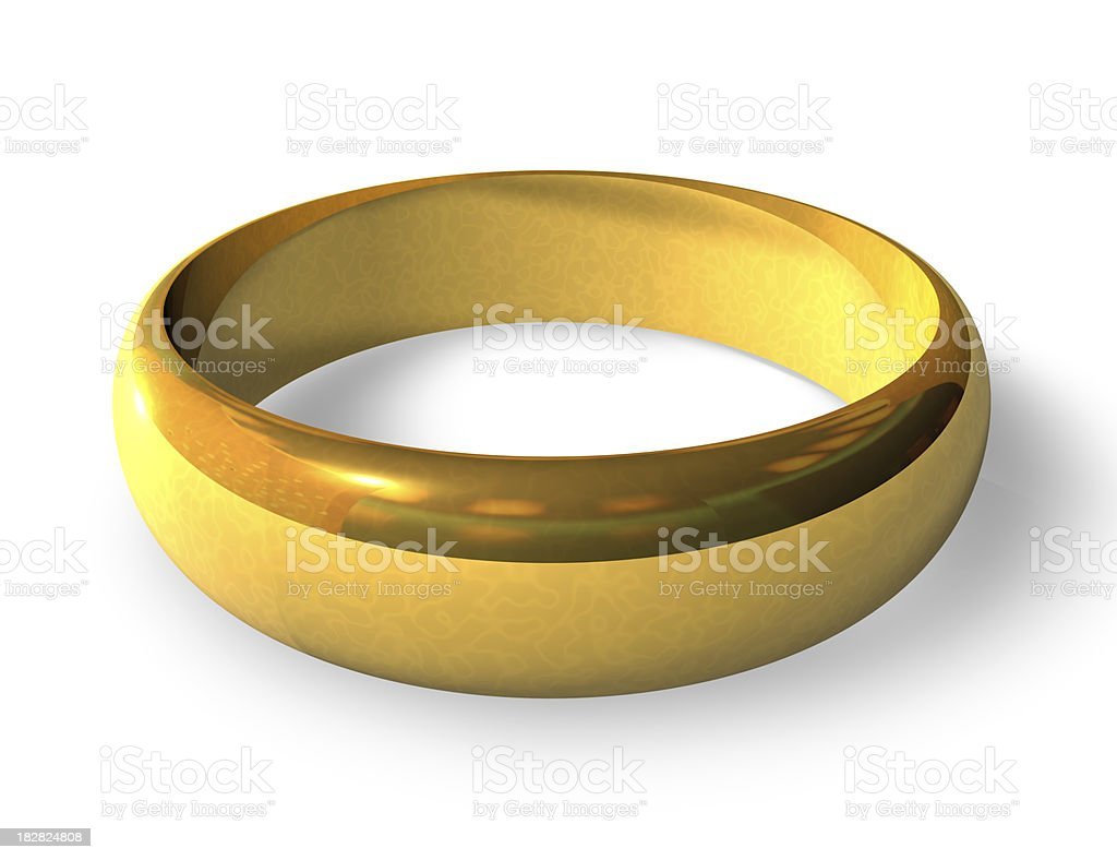 Gold Wedding Ring royalty-free stock photo