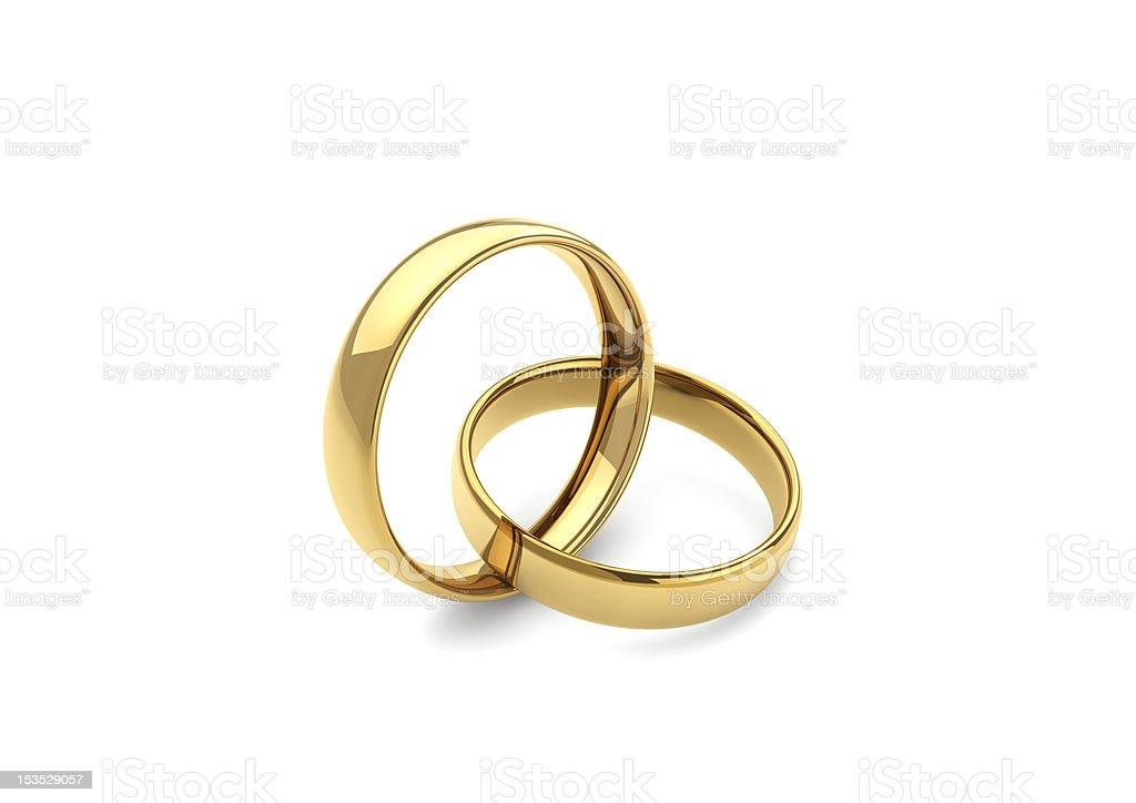gold wedding rings royalty-free stock photo
