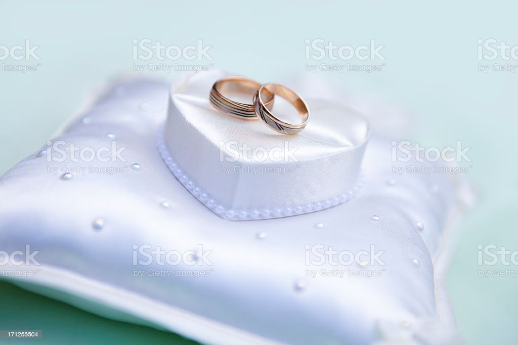 Gold Wedding Rings royalty-free stock photo