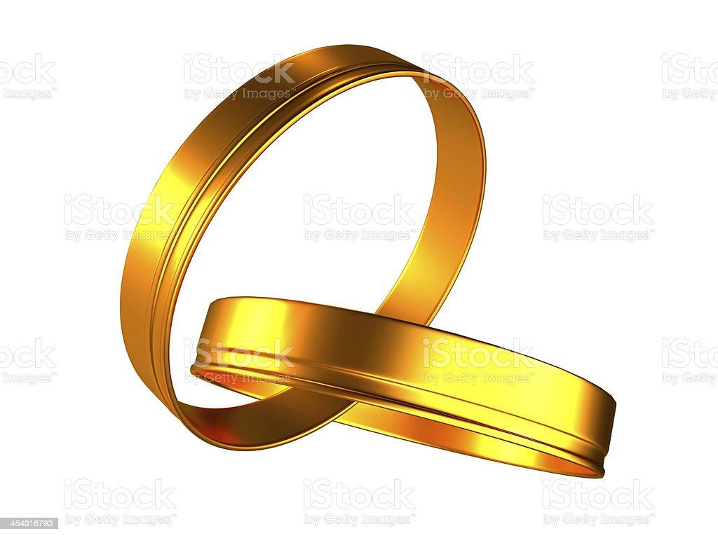 Gold (golden) Wedding rings royalty-free stock photo
